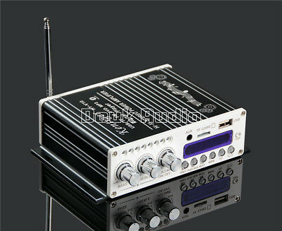 Bluetooth HiFi 2-Kanal Verstärker Endstufe DSP Power Amplifier Auto Car MP3 Amp
