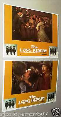 "{Set of 8} The Long Riders {Nicholas Guest} 11X14"" Original LOBBY CARD 80s"