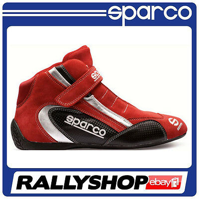 Sparco K-Formula SL7 shoes  size 40 Red Sport Boots SUEDE Racing Race Rally Kart