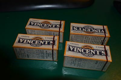 4 Vintage Vincents Powders Collectable Boxes Lot, Sealed