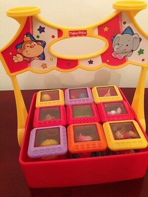 2004 Mattel Fisher Price Peek A Boo Box Circus Carrier