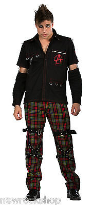 New Dead Threads Shirt Red Studs Men Metal Punk Emo Rock