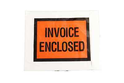 """Invoice Enclosed Envelopes 4.5"""" x 5.5"""" Full Face Shipping Envelopes 2000 Pouch"""
