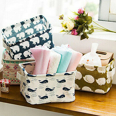 Foldable 5 Colors Storage Bin Closet Toy Box Container Organizer Fabric Basket