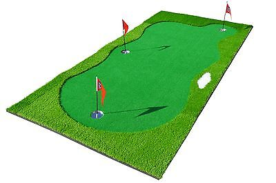 PGA TOUR Golf Putting Mat Huge - Indoor / Outdoor Green Practice Training Aid