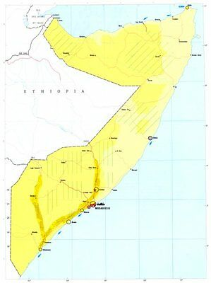 SOMALIA. Economy industry trade farming agriculture resources 1973 old map