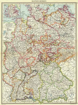 GERMANY. Western Germany; Inset map of Schleswig 1907 old antique chart