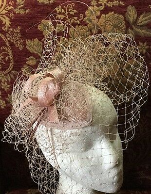 Gorgeous Dusky Pink Fascinator On Head Band by Suzanne Bettley BNWT Wedding Hat