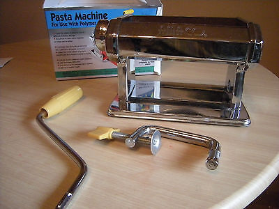 Amaco Polymer Clay Pasta Rolling Machine In Box American Art Clay Co. #123815