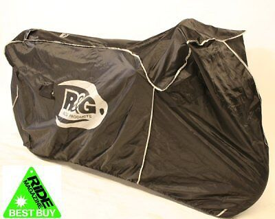 R&G Racing waterproof motorcycle superbike outdoor cover black Ride Recommended