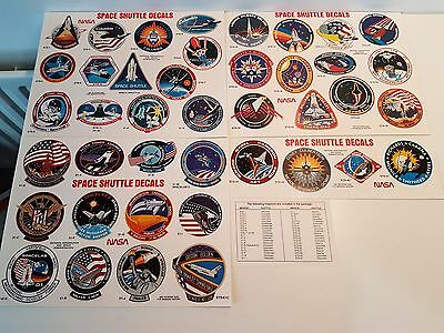NASA - Vintage Brand New set of 41 Space Shuttle Decals bought at Cape Canaveral