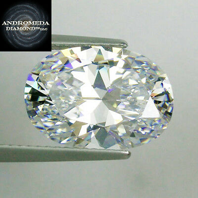 3 Ct. Oval Brilliant Synthetic Stone by Andromeda Outshines Diamond & Moissanite