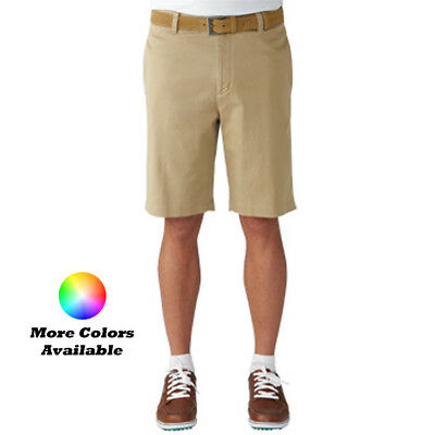 New Ashworth Golf Solid Stretch Flat Front Twill Shorts - Pick Size & Color