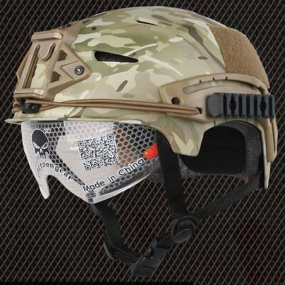 Airsoft Bump Type Helmet With Visor Multicam Mtp Abs Ussf Ops