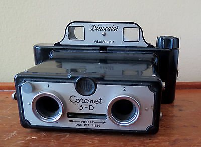 VINTAGE CORONET 3-D STEREOVIEW BAKELITE CAMERA - Made In England