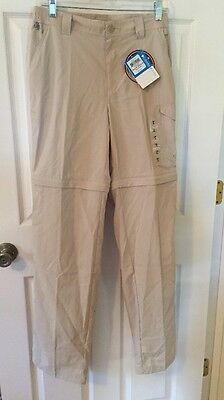 New Columbia Men's Khaki PFG Blood and Guts III Convertible Casual Pant 30 X 34