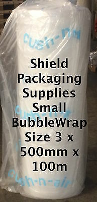 Cush - n - Air Branded Small Bubble Wrap 3 x Rolls of 500mm x 100m