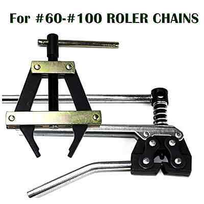 Donghua Chain Roller Chain Tools Kit For ANSI #60 #80 #100 And More, Chain