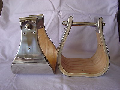 """5"""" MONEL (Stainless) BELL STIRRUPS - USA MADE - A++ EXCELLENT STIRRUPS!"""