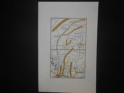 Pennsylvania Maryland 1865 Civil War Map Hand Colored Gettysburg Harpers Ferry