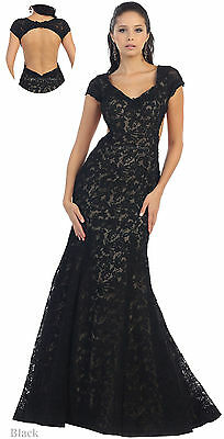 Sale ! Evening Formal Prom Lace Dresses Special Occasion Fitted Gowns Under $100