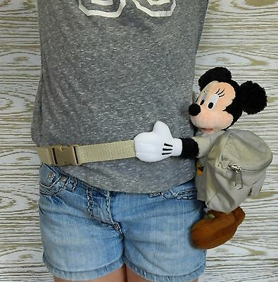 DISNEY MINNIE MOUSE Child / Adult Waist Purse Fanny Pack Plush Mickey Mouse