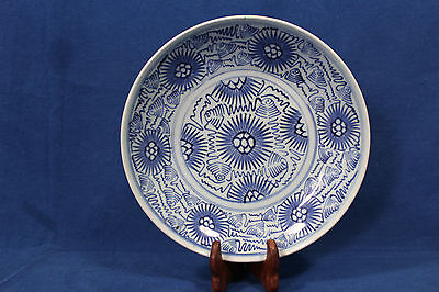 Antique Chinese blue and white porcelain dish (plate) - China 18th 19th century