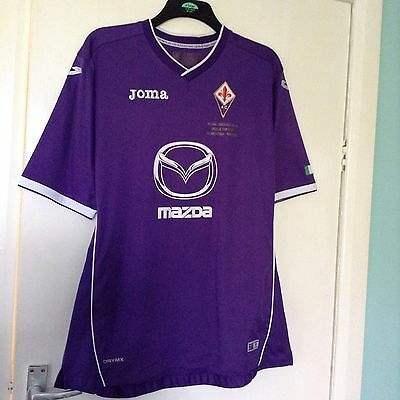 Fiorentina 2014 Tim Cup Final Shirt By Joma Adults Size X Large