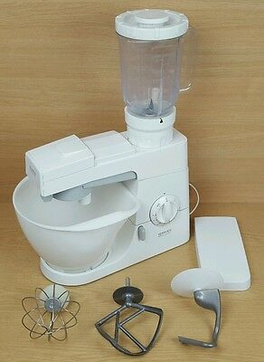 Kenwood Chef Electronic Mixer KM 210 with Liquidiser Dough Hook K Beater & Whisk