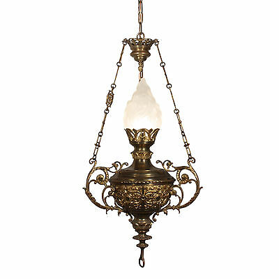 Incredible Antique Cast Bronze Chandelier, Late 19th Century, NC2146