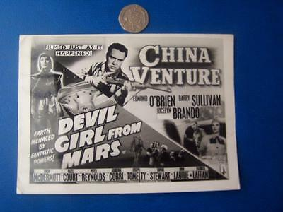 Devil Girl From Mars -  Photographic Film Poster Advert - 4.5 x 6 inch aprox