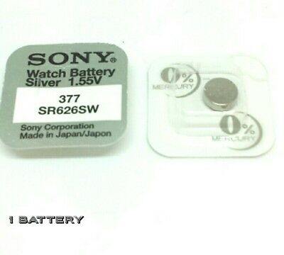 1 x Sony Watch Battery Cell Button Silver-Oxide 1.55v-377 SR626SW AG-4 377 .....