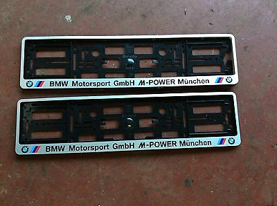 Bmw Msport Number Plate Holders, German, Aftermarket, Modified, Trim Easy To Fit