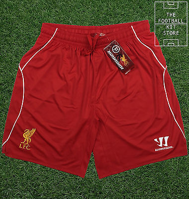 Liverpool Home Shorts - Official Warrior Football Shorts - Mens - Small / Medium