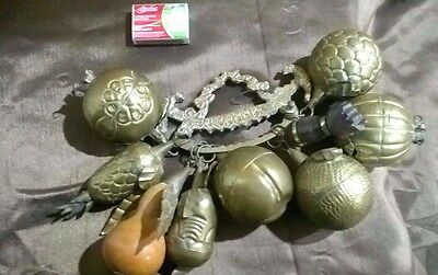 Vintage Rare HUGE PENCA  de BALANGANDAN Brazilian Slave  Charms Decor Good Luck