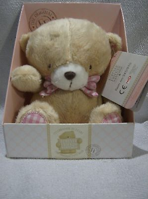 Forever Friends plush 7inch teddy pink bow