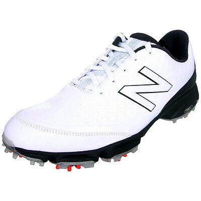 New Balance 2002 Mens Spiked Golf Shoes - White / Black
