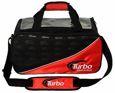 Turbo Driven to Bowl Double Tote 2 Ball Bowling Bag Red