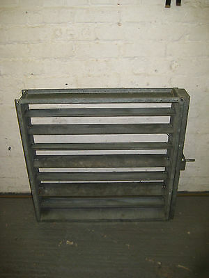 Paint Spray Booth Galvanised Extract Louvre Vent Blind - 750mm Sq x 140mm long