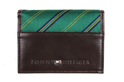 Tommy Hilfiger Men's Leather Cotton Trifold Credit Card Wallet Passcase 4311/02