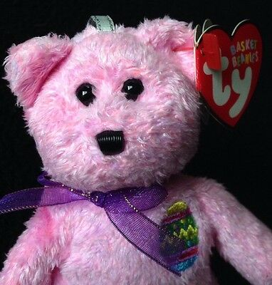 Ty Eggs Pink Basket Beanie Baby Collection 2001 Easter