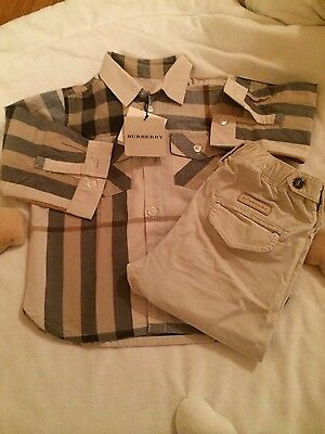Completo Burberry baby nuovo