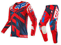 Fox Racing 360 Adult Divizion Race Kit Gear Combo 34 Pants Xl Jersey Red
