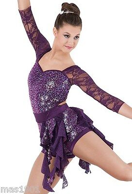 New Figure Ice Skating Baton Twirling Dress Costume Dance Competition Lyrical