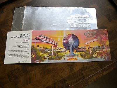 Two(2) UNUSED 1982 Epcot Center Special Edition Commerorative Tickets
