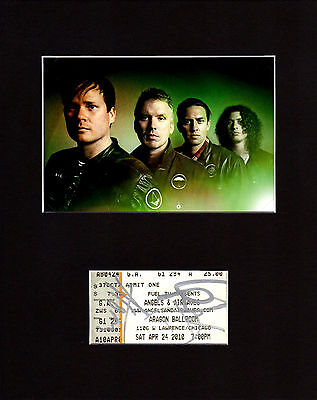 Angels and Airwaves Autographed Mat Piece! Tom DeLonge! Blink 182! Rare!