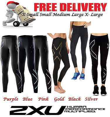 2XU WOMENS COMPRESSION PANTS long womens girls sports skins fitness gym tights
