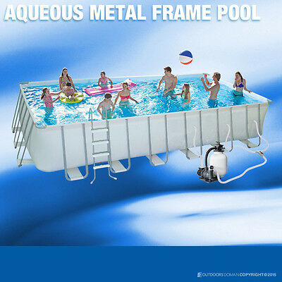 Swimming Pool Aqueous 14820L Above Ground Rectangle Metal frame 274x548 x132cm
