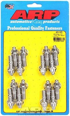 ARP Header Stud 1.670 in 12 Point Nuts Polished BBC 16 pc P/N 400-1403