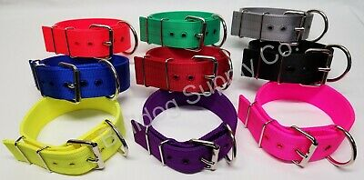 "2"" 3-Ply Nylon Heavy Duty Dog Collar for Pit Bull & Large Breeds"
